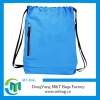 Light Blue cloth drawstring bags with zipper pocket