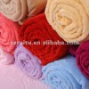 150*200cm New Fashion Coralon leather decorated Blanket