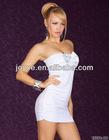 plus size sexy white club dresses