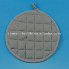 Pure Color Waffle Round Cooking Pot Holders