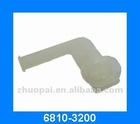 white L shape plastic auto fastener