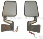 Jeep mirror with light