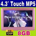 "8GB 4.3"" Digital MP3 MP4 MP5 Game Player MP-26"
