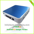 Amlogic AML8726-M3 up to 1.2GHz ARM Cortex A9 Google player box,android4.0 internet TV box,android 4 0 smart tv box