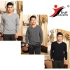100% pure Cashmere jumper/ simple man's flat knitted sweater V neck