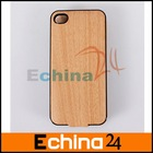 Wood Leather Battery Case Power Pack 1450mAh for iPhone 4 4S