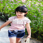 Girls cotton T-shirt of branded child summer wear
