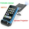 First foldable MILI pocket projector for iphone4/4S,factory direct sale