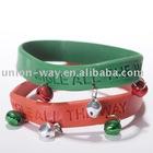 jingle bell silicone wristband in custom