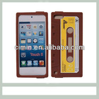 Retro cassette back case for itouch 5 silicone phone cases