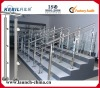 Stainless steel hand rails and posts for outdoor steps