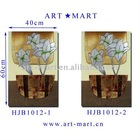 Carved MDF Wall Art, Wooden Painting Panels , Set of 2