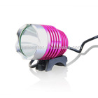 Kinfire 900 Lumens 3-Mode 1*Cree-T6 Bright White Light LED Headlamp with Adjustable Head Strap/Battery Pack (Pink)