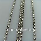 Fashion metal 6mm beaded ball chain