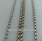 Fashion metal 6mm beaded ball chain