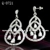 Compare 925 Sterling Silver CZ earrings: Cubic Zirconia jewelry