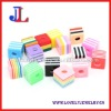 Square Striped Resin Beads in bulk 10mm Mix colors