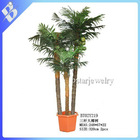 artifical coconut tree with 3 stems and fruits