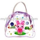 pink plastic cosmetic bag