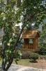 solid wooden bird house
