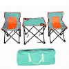 mesh beach chairs and outdoor table
