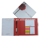 Hard cover notebook with elastic