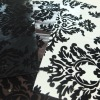 116 flower flock on artificial leather for sofa