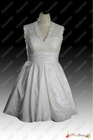 Real Sample New Style Cheap Short Taffeta Bridal Wedding Dress 2013
