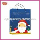 Supply quality light Santa Xmas carrier bag