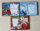 plastic frame for write Christmas greeting