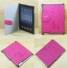 2012 hot sale style stand cover case little succuba case for Apple IPAD3 peachblow color