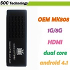 MK808 mini pc Android 4.1 OS RK3066 dual core Cortex A9 HDMI support Remote keyboard and mouse