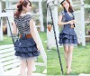 2012 Ladies Fashionable Blue Denim Dress Suit