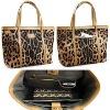 Cloth & PU leather lady handbag
