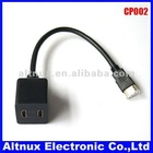 New HDMI Male to Dual HDMI Female 1 to 2 Way Y Splitter Cable Adapter For HD TV CP002