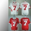 Houston Cougars #7 Case Keenum white/ red ncaa football jerseys size 48-56 mix order free shipping