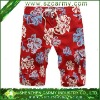 Man Red Leisure Casual Beach Fashion Patterned Floral Printing Pants