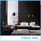 Modern Black and White Fabric Sofa Italian Furniture