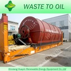 ISO14001&ISO9001&CE scrapped tyres into crude oil