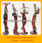 Resin african figurine for home decoration