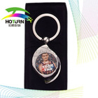 photo metal key ring(made by heat press machine)