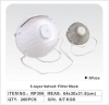 non-woven particular mask with valved dust mask