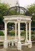 White Garden Marble Gazebo With Iron Roof