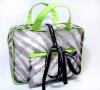 Green pvc make up cosmetic bag