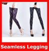 European Seamless Elastic Check Long Women Leggings