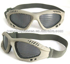 Perforated goggles for shooting
