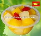 Plastic transparent fruit cup in 4 OZ