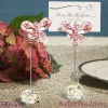 SJ015/B_Exquisite Pink Crystal Butterfly Place Card Holders used as Wedding Decoration and Wedding Gift_Wedding Souvenir