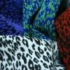 Leopard Design Jacquard Polyester Elastic Fabric