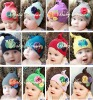 Baby Cotton Flower knitted hat for girl toddler